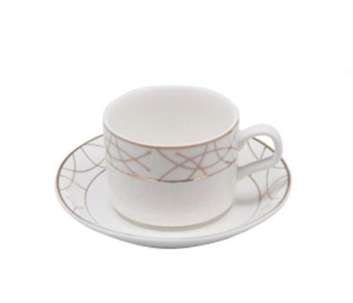 display image 0 for product Royalford 12Pcs Porcelain Cup & Saucer - Made Up Of Highly Durable Material For Regular Use