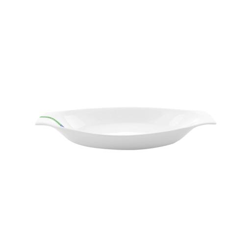 display image 1 for product Royalford Porcelain Magnesia Boat Plate, 12.5 Inch