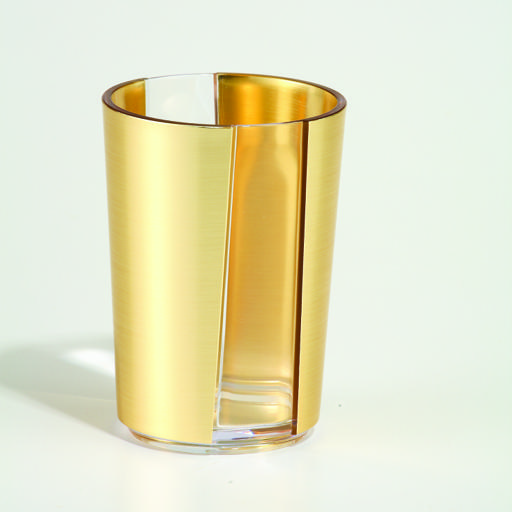 display image 0 for product Royalford 410Ml Gold Acrylic Glass - Portable Lightweight With Broad Mouth & Easy Handling Water Cup