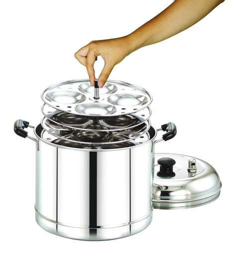 display image 3 for product Royalford Stainless Steel Modern Idly Cooker