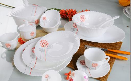 display image 0 for product Royalford Opal Ware Round Dinner Set, 96 Pcs
