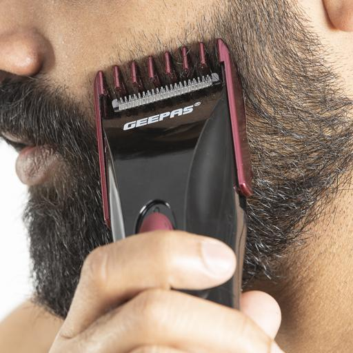 Geepas Rechargeable Beard Trimmer 3W - Comfortable Grip, Stainless Steel Precision Cutting Blade hero image