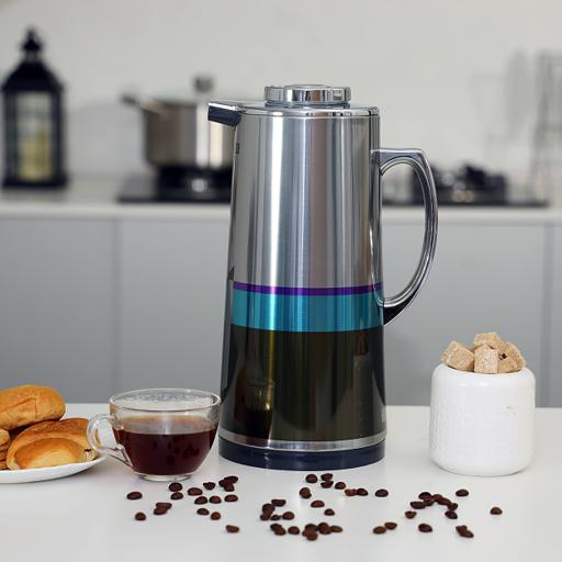 Royalford 1.9L Silver Vacuum Flask - Stainless Steel Keeping Hot/Cold Long Hour Heat/Cold Retention hero image