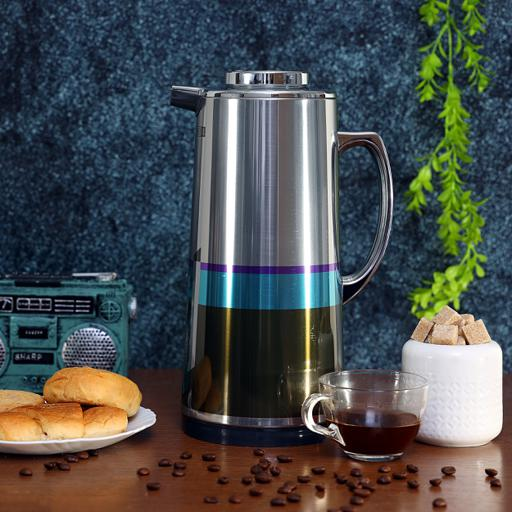 display image 4 for product Royalford 1.0L Silver Vacuum Flask - Stainless Steel Keeping Hot/Cold Long Hour Heat/Cold Retention