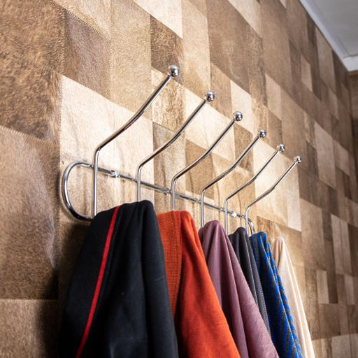 display image 1 for product Royalford Wall Mount Hook - 6 Metal Hooks