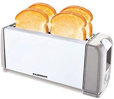 Olsenmark 1200W 4 Slice Bread Toaster - Toaster With 6 Level Browning Control, Removable Crumb Tray hero image