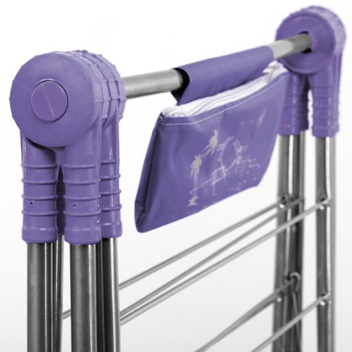 display image 9 for product Royalford Large Folding Clothes Airer 180X55 Cm - Drying Space Laundry Washing