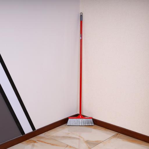 display image 2 for product Royalford Long Floor Broom With Strong Iron Handle - Upright Long Handle Broom With Stiff Bristles