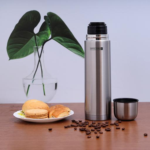 display image 0 for product Royalford 1L Stainless Steel Vacuum Bottle - Stainless Steel Flask & Water Bottle