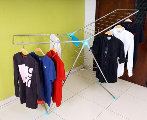 display image 3 for product Royalford Large Folding Clothes Airer 180X55 Cm - Drying Space Laundry Washing