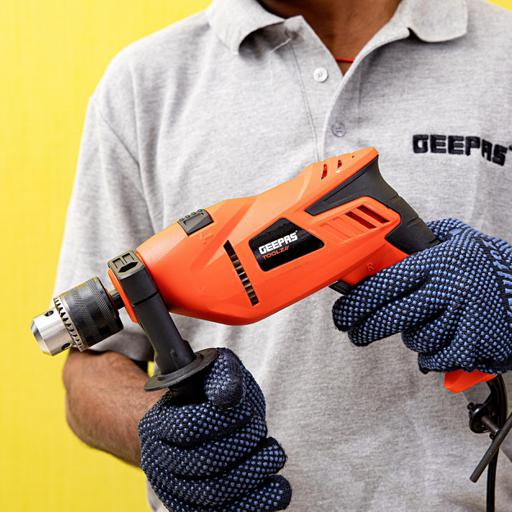 Geepas 13Mm Percussion Drill 750W- Selector For Masonry, Brick, Metal, Wood & More hero image
