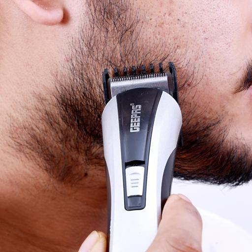 Geepas Rechargeable Beard Trimmer 3W - Grooming Kit With Comfortable Grip, Stainless Steel hero image