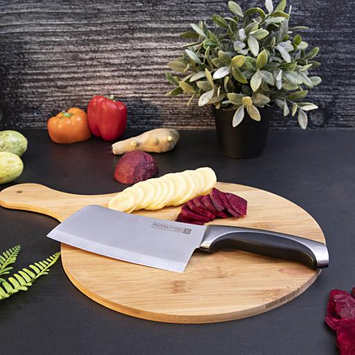 "display image 0 for product Royalford 6"" Cleaver Knife -Razor Sharp Meat Cleaver Stainless Steel Vegetable Kitchen Knife"