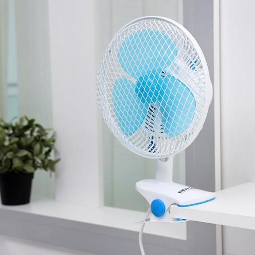 Krypton 8-Inch Table Fan - 2 Speed Settings With Oscillating/Rotating And Static Feature - Electric hero image