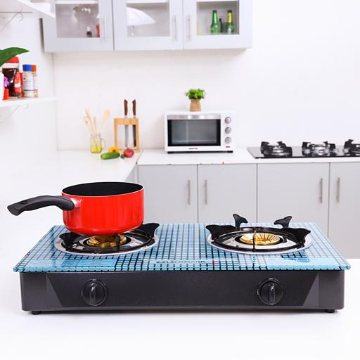 Olsenmark Double Burner Gas Stove - Auto Ignition - Toughened Glass - Low Gas Consumption hero image