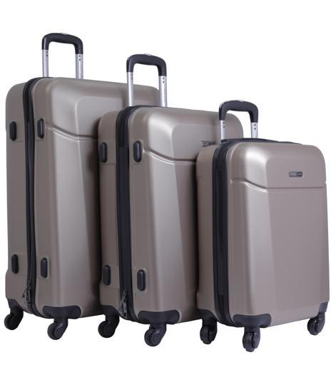 PARA JOHN Hardside 3 Pcs Trolley Luggage Set, Champagne hero image