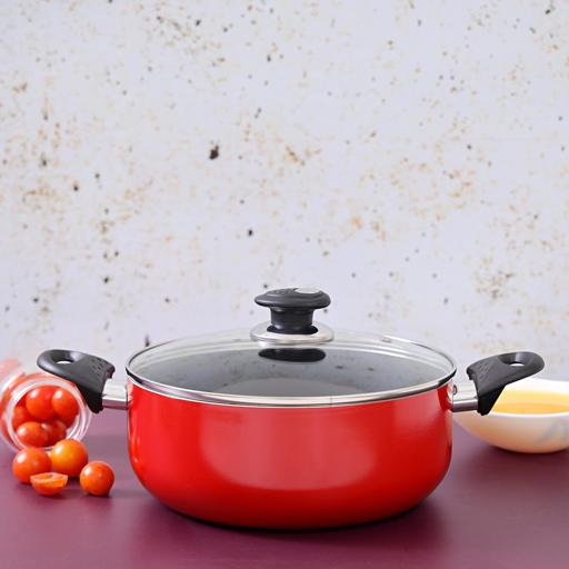 display image 1 for product Royalford Non-Stick Ceramic Casserole With Lid 18 Cm- Durable Non-Stick Coating, High-Quality