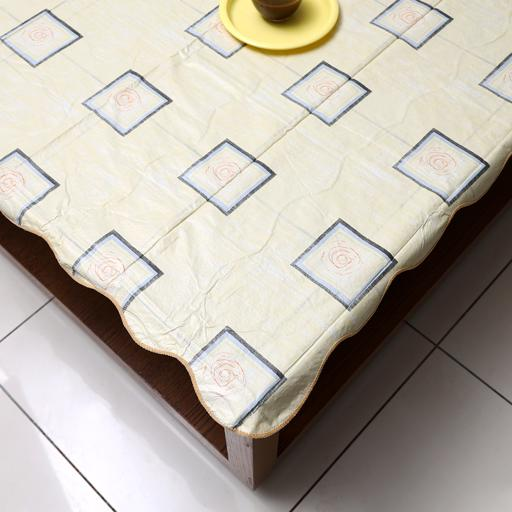"""display image 1 for product Royalford 60"""" Round Table Cloth - Tablecloth Cover Protector"""
