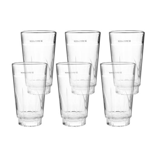 display image 5 for product Royalford 6Pcs 375Ml Glass Tumbler - Portable Lightweight Transparent Water Cup Drinking Glass