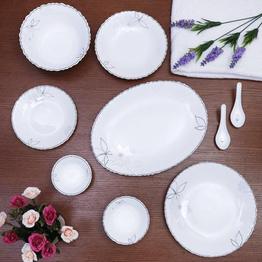 display image 1 for product Royalford Opal Glassware Dinner Set, 40 Pcs