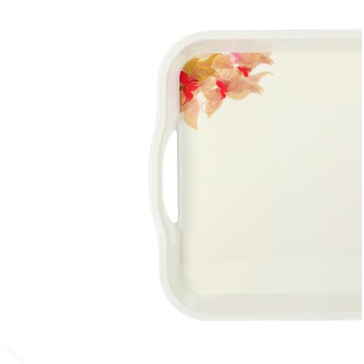 display image 4 for product Royalford Melamine Flower Carnival Handle Tray, 15 Inch