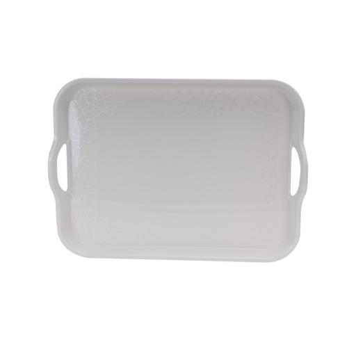 display image 5 for product Royalford Melamine White Pearl Handle Tray, 15 Inch