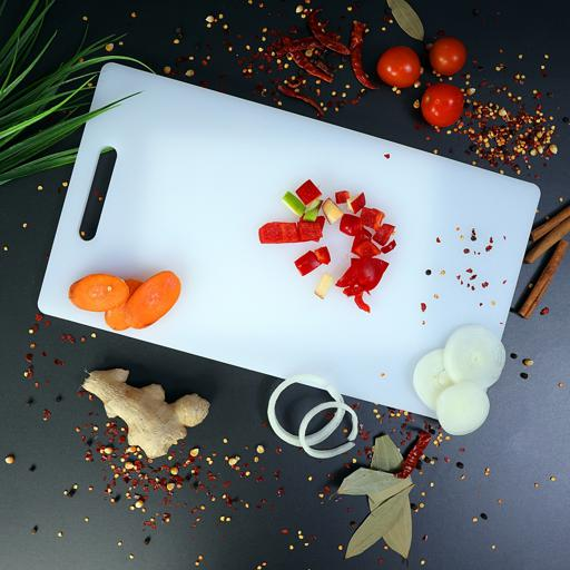 display image 2 for product Royalford Non-Toxic Polyethylene Chopping Board - Cutting Board With Non-Slip Base- Perfect For Fruit