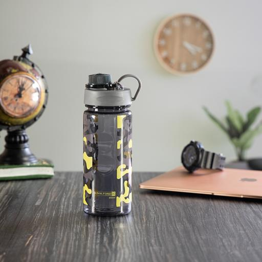 display image 0 for product Royalford 750Ml Water Bottle - Reusable Water Bottle Wide Mouth With Hanging Clip