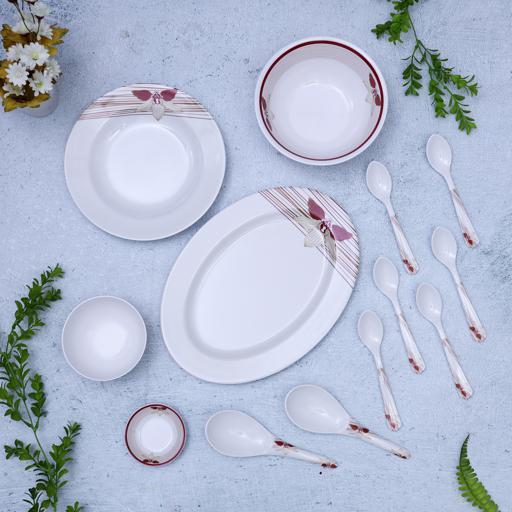 display image 2 for product Royalford Melamine Ware Dinner Set, 35 Pcs