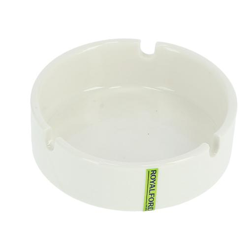 """display image 4 for product Royalford 4"""" Porcelain Ashtray - Portable Modern Ash Container Table Top, Cigarette Ashtray"""