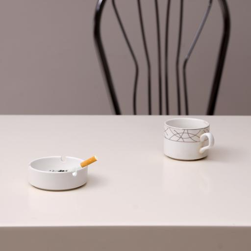 """display image 0 for product Royalford 4"""" Porcelain Ashtray - Portable Modern Ash Container Table Top, Cigarette Ashtray"""