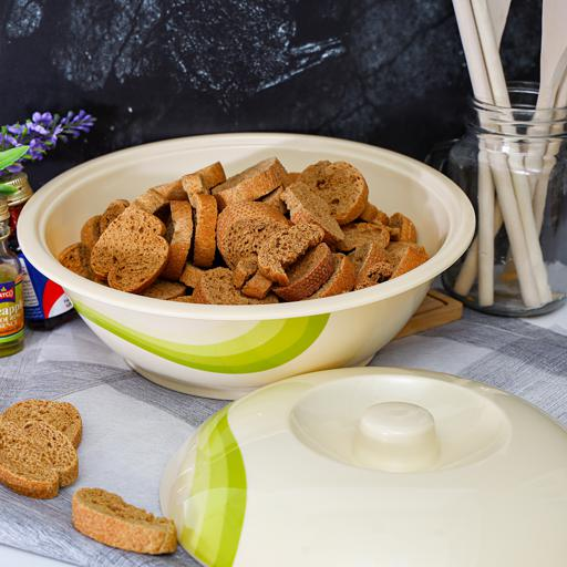 """display image 0 for product Royalford 9"""" Melamine Ware Super Rays Bowl With Lid - Portable, Lightweight Bowl Breakfast Cereal"""