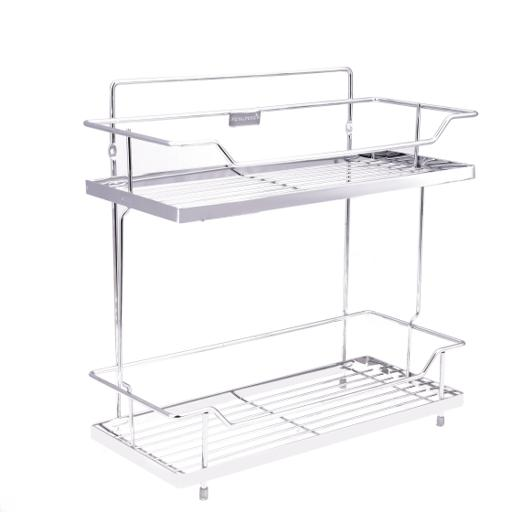 display image 7 for product Royalford 2 Tier Kitchen Rack - Rust Free Stainless Steel Counter-Top Organizer Holder Rack