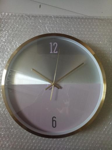 Royalford Wall Clock With Aluminium Frame- Silent Sweep Motion, Numeral Clock, Round Decorative Wall hero image